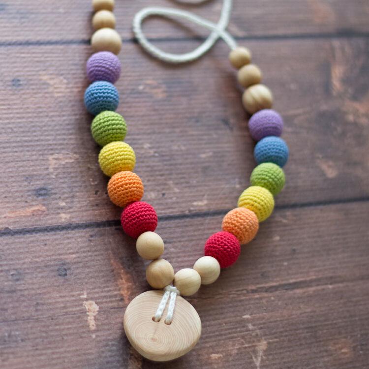 KANGAROO CARE Collier d'allaitement et de portage Double Rainbow Genévrier - RN004 BIS - KANGAROO CARE