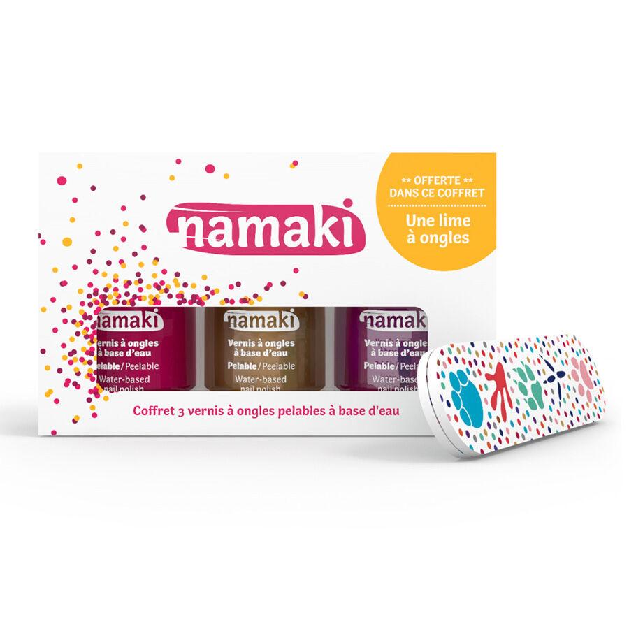 NAMAKI Coffret 3 vernis Framboise - Or - Fuchsia - NAMAKI