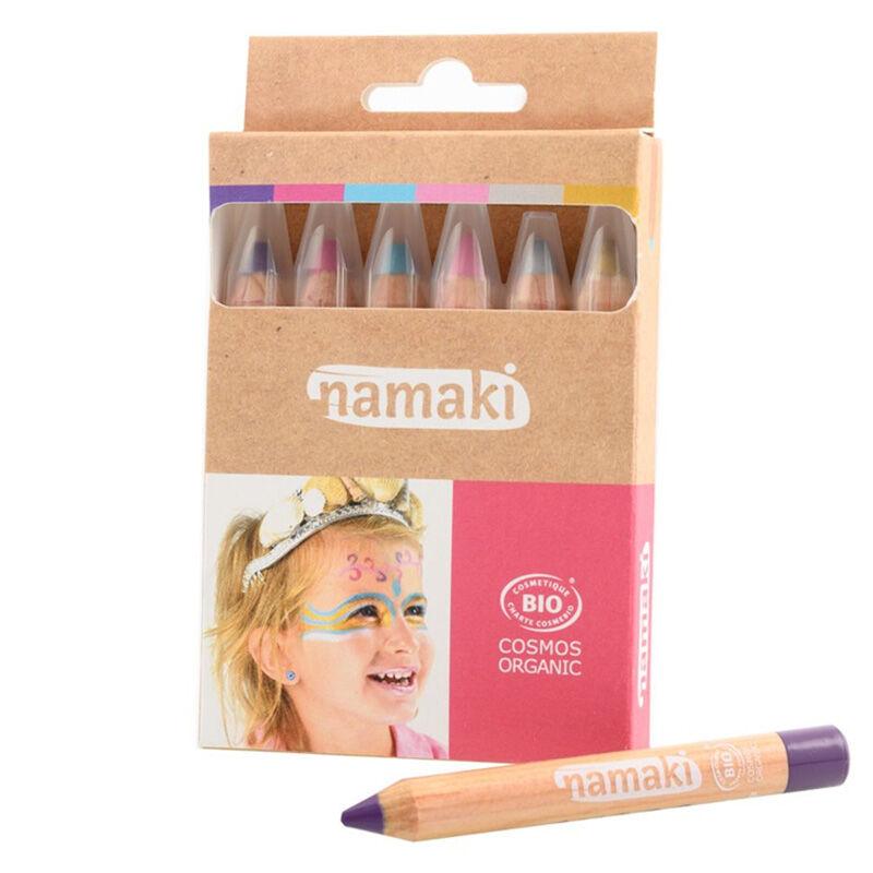 NAMAKI Kit de 6 crayons de maquillage Mondes enchantés - NAMAKI
