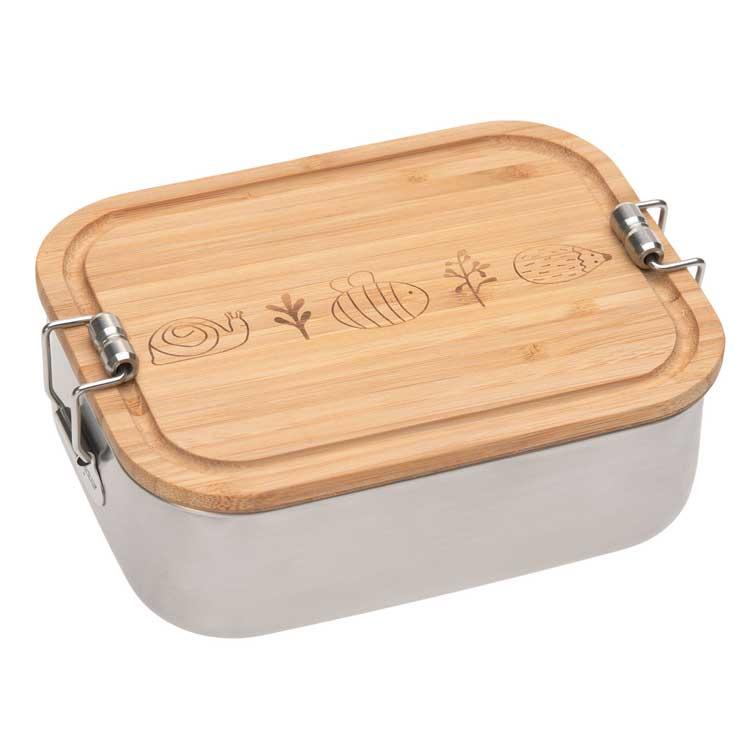 LASSIG Boîte à goûter en inox et bambou Garden Explorer - LASSIG