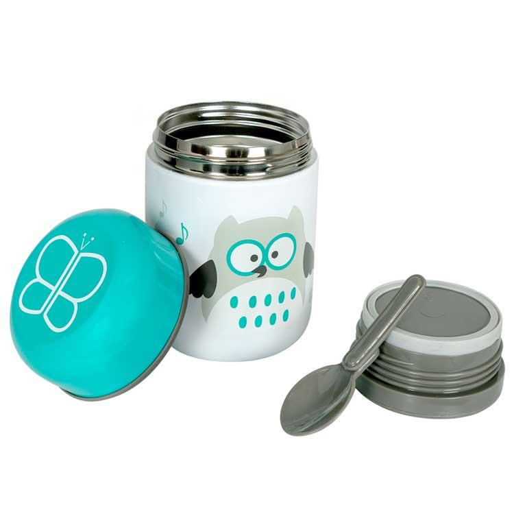 BBLUV Boîte à repas isotherme et sa cuillère Hibou - BBLUV
