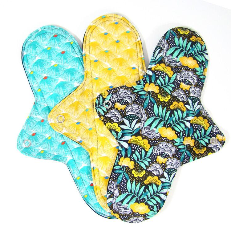 MELO'COTON Lot de 3 serviettes hygiéniques lavables Nuit Eventail - MELO'COTON