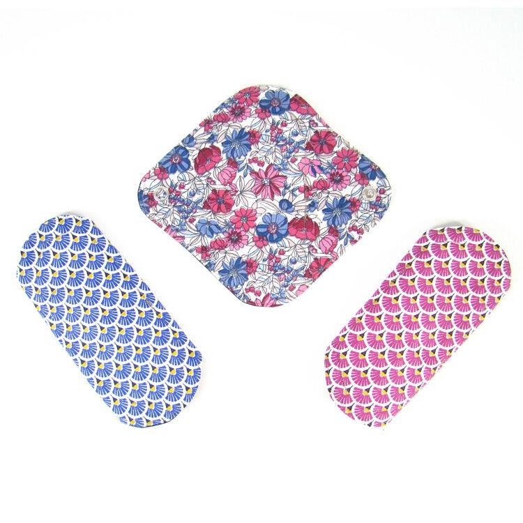 MELO'COTON Lot de 3 protèges slip lavables Fleur Rose - MELO'COTON