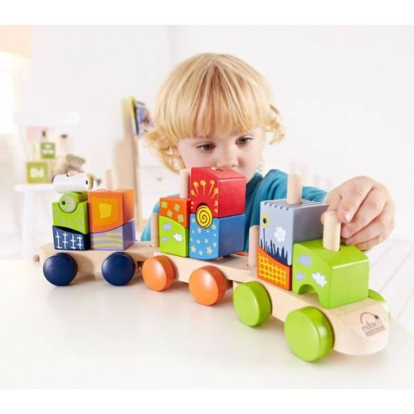 HAPE Blocs train fantaisie E0417 - HAPE