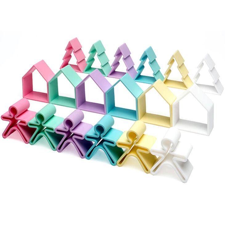 DENA Set de jeux 18 pièces en silicone Pastel - DENA