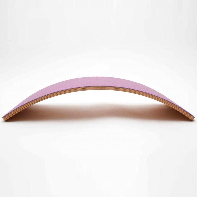 WOBBEL Planche d'équilibre Starter en bois et feutre Rose - WOBBEL