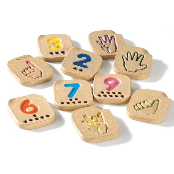 PLAN TOYS Jeux en bois pour apprendre les chiffres en signe - PLAN TOYS