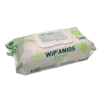 ANIOS Wip'Anios Excel - lingettes désinfectantes biodégradables