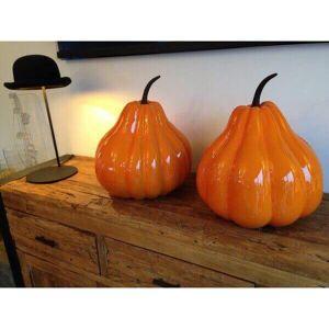 MATHI DESIGN Citrouille geante decorative Orange - Publicité