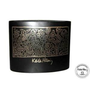 Licence officielle Vase Heller Garden de Keith haring Noir - Publicité