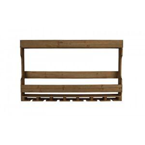 Dutchbone TRES - Etagere Bouteilles et verres en bois et acier Marron - Publicité