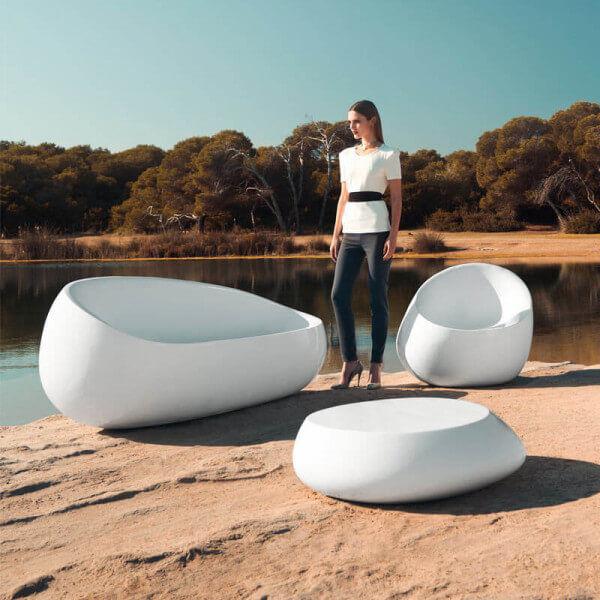 Vondom Salon de jardin Stone Blanc