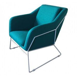 MATHI DESIGN NARVIK - Fauteuil nordique en tissu bleu Bleu - Publicité