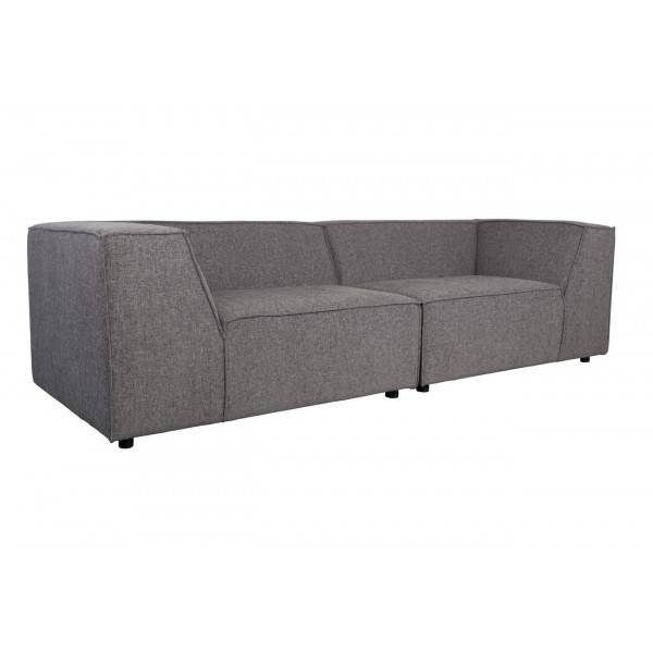 Zuiver KING - Canape en tissu gris fonce Anthracite