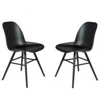 Zuiver ALBERT KUIP - 2 Chaises resine et bois pieds noirs Noir <br /><b>330.00 EUR</b> Mathi Design