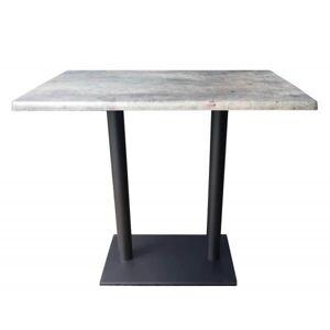 MATHI DESIGN Table haute plateau aspect béton gris Beige - Publicité