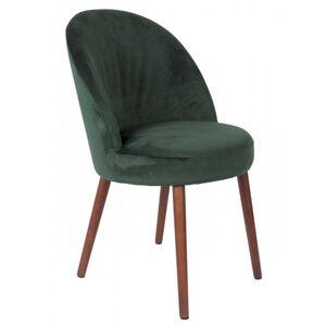 Dutchbone BARBARA - Chaise de salle a manger en velours Bleu-Gris-Rouge-Vert-Orange-Camel - Publicité