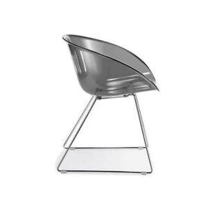 Pedrali GLISS - Chaise design transparente Transparent - Publicité