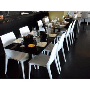 MATHI DESIGN LYPO - Chaise design de repas blanche Blanc - Publicité