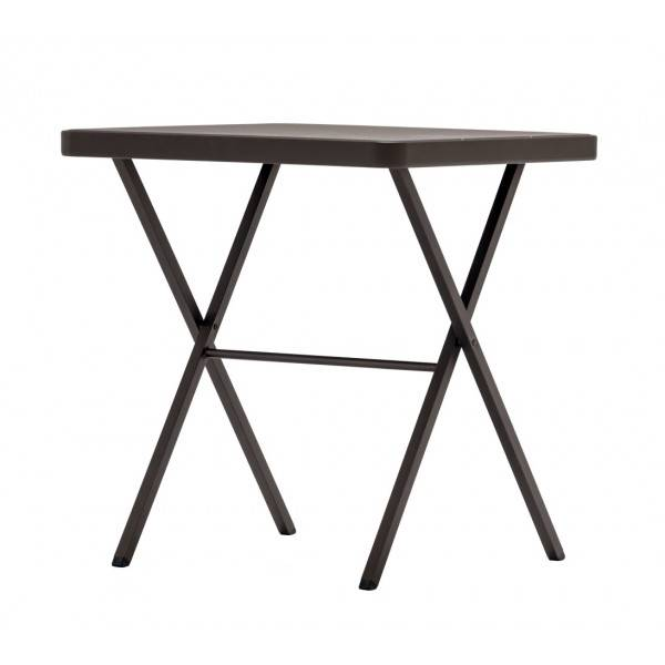 MATHI DESIGN BRUNCH - Table pliable fonce Gris / Bronze