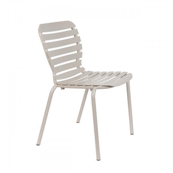 Zuiver VONDEL - Chaise de jardin en aluminium Argile Marron clair