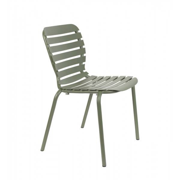 Zuiver VONDEL - Chaise de jardin en aluminium vert Vert