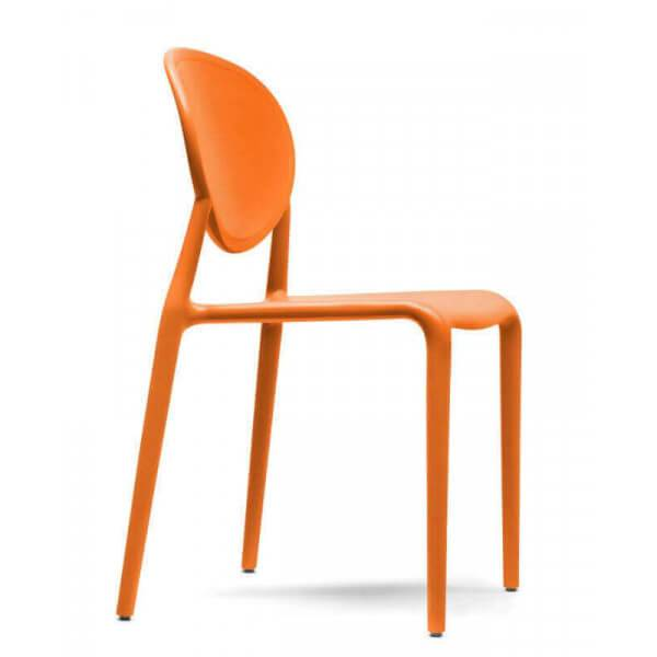 Scab Design SIMPLY - Chaise d'extérieur empilable Orange