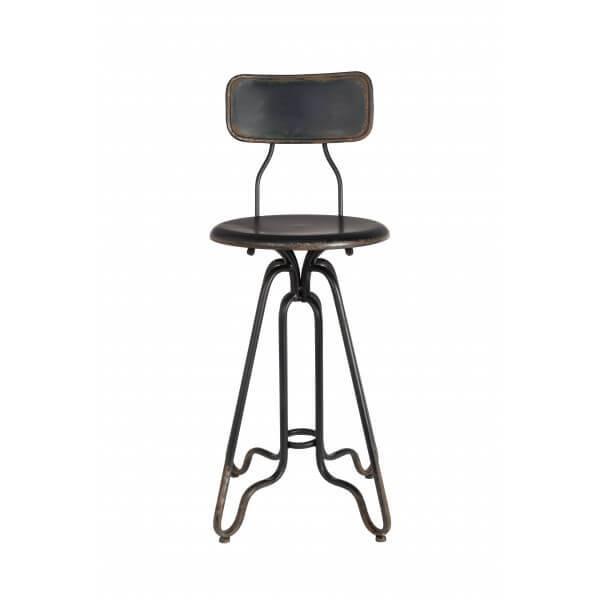 Dutchbone COUNTER - Tabouret de bar en acier industriel