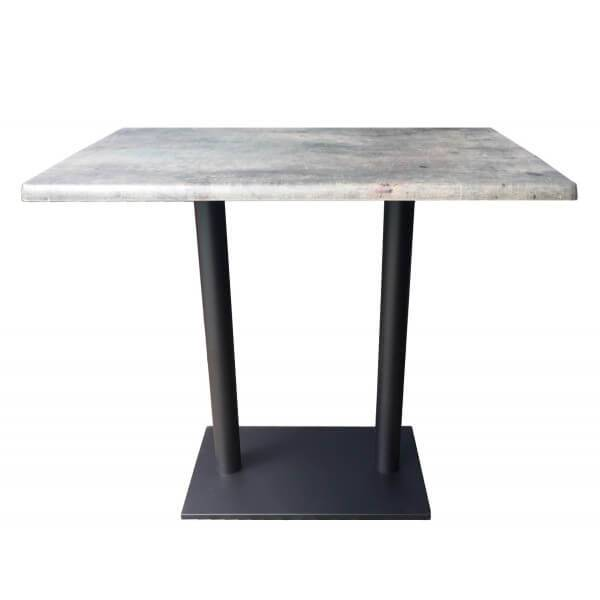 MATHI DESIGN Table haute plateau aspect béton gris Gris