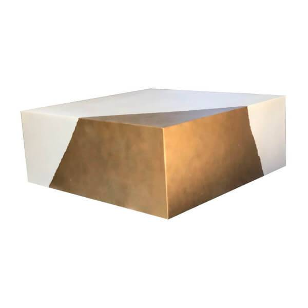 MATHI DESIGN Table Cube Or Blanc