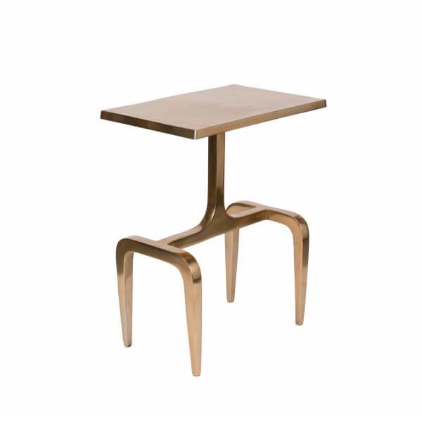 Dutchbone HIPS - Table basse d'appoint en aluminium doré Or