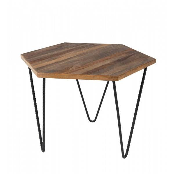 MATHI DESIGN POLYGONE - Table basse en teck Beige