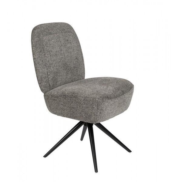 Zuiver DUSK - chaise design grise en tissu Gris