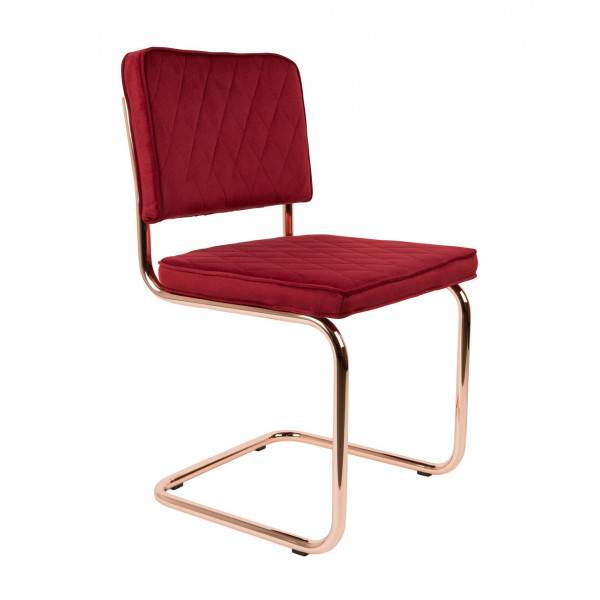 Zuiver DIAMOND - Chaise en tissu Rouge Royal Rouge