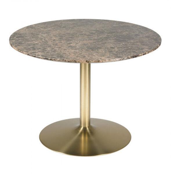 MATHI DESIGN AURORA - Table de repas marbre D106 cm Laiton