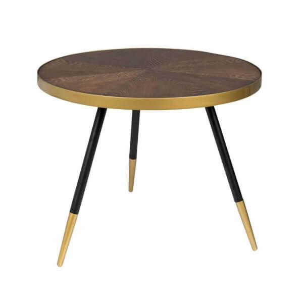 MATHI DESIGN DENISE L - Table basse ronde art déco Or