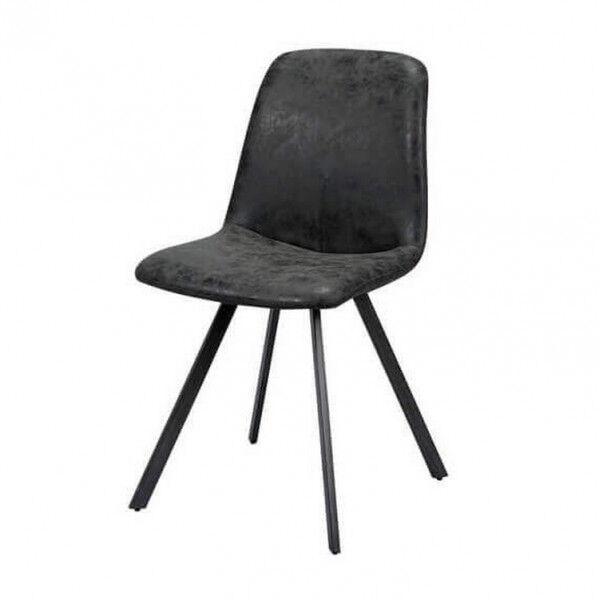 MATHI DESIGN SLIM - Chaise design de repas anthracite vieilli Anthracite