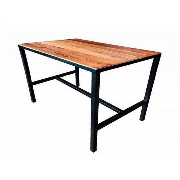 MATHI DESIGN ATELIER - Table à manger 4 places en bois L110 Marron