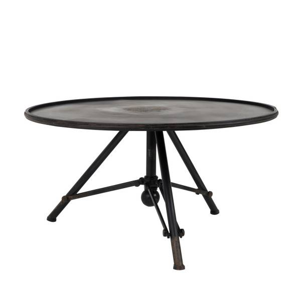 Dutchbone BROK - Table de salon style colonial en acier noir Noir