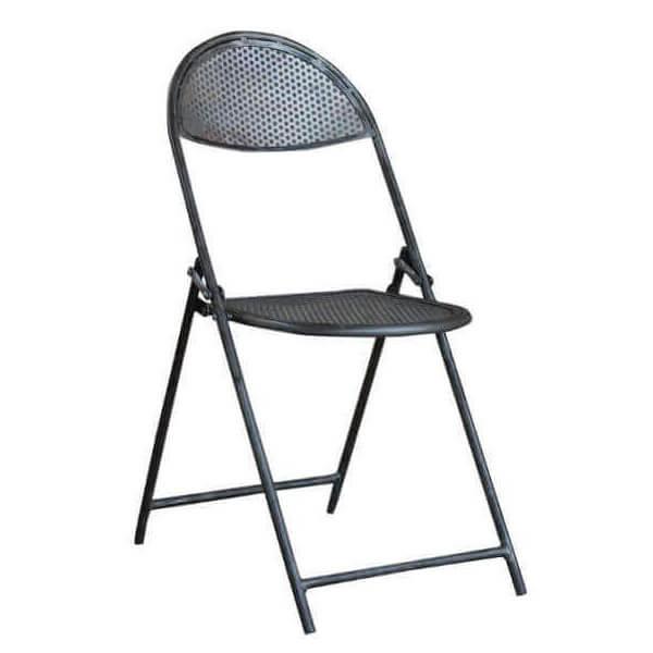 MATHI DESIGN CINEMA - Chaise pliante acier gris clair Gris