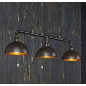 MATHI DESIGN Triple suspension Bar industrielle Gris - Publicité