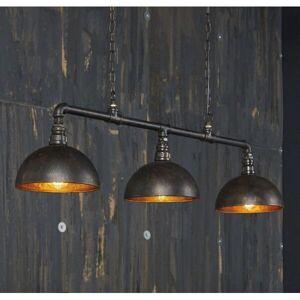 MATHI DESIGN Triple suspension Bar industrielle Gris - Publicité