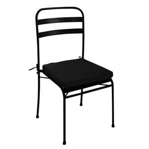 MATHI DESIGN TERRAZZO - Chaise de repas métal noir Noir - Publicité