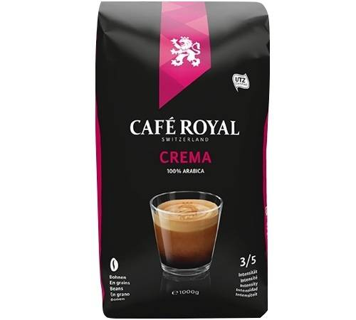 Café Royal Café en grains Crema 100% Arabica - 1kg - Café Royal