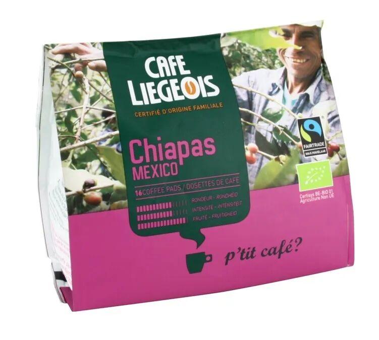 Café Liegeois Café dosettes souples bio Chiapas Mexico x16 - Café Liegeois