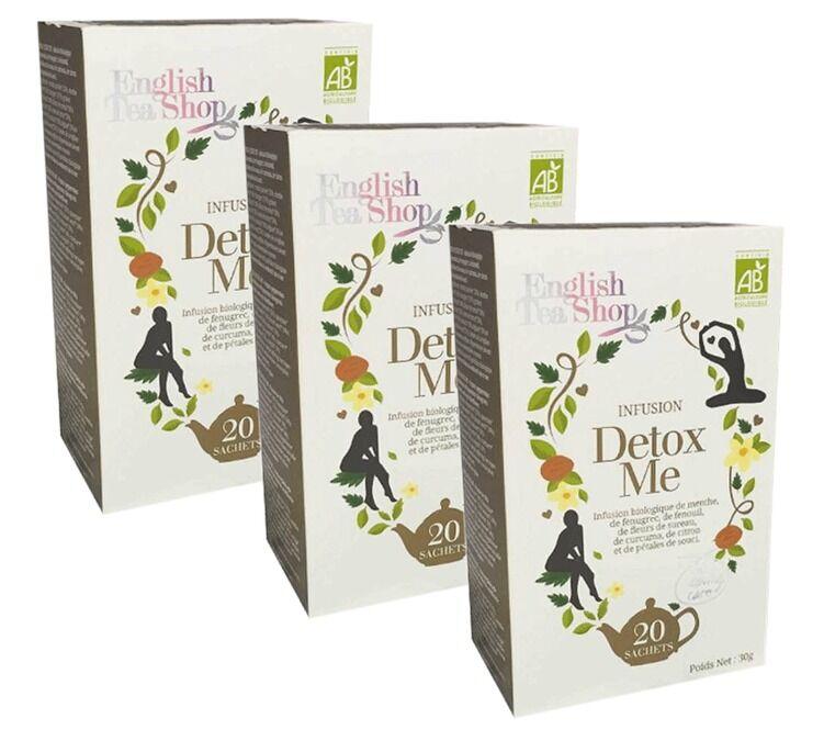 English Tea Shop Pack Tisane Detox me - 3 x 20 sachets - English Tea Shop