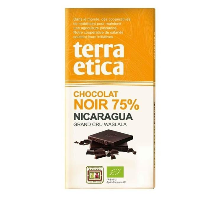 Terra Etica Tablette chocolat Noir 75% Nicaragua 100g - Café Michel