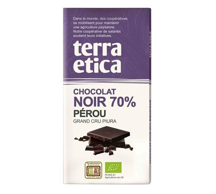 Terra Etica Tablette chocolat Noir 70% Pérou 100g - Café Michel