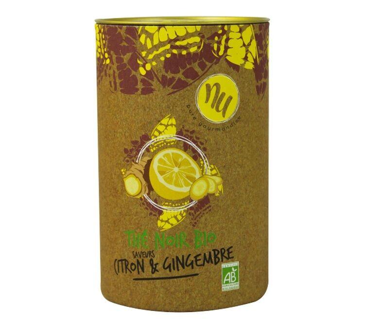 Maison Taillefer Thé noir saveurs Citron & Gingembre Bio 90g - Maison Taillefer