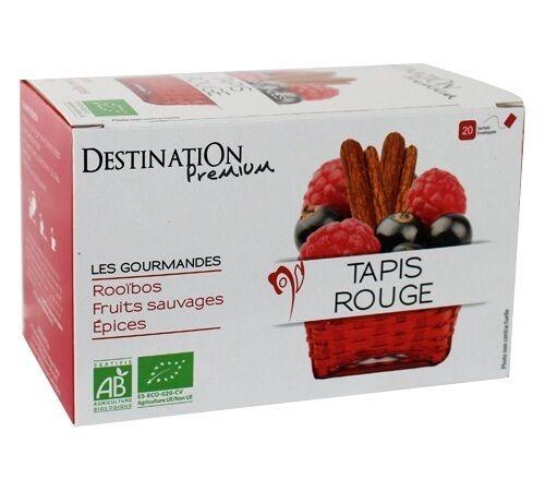 Destination Tisane Tapis Rouge Bio - 20 sachets fraicheurs - Destination